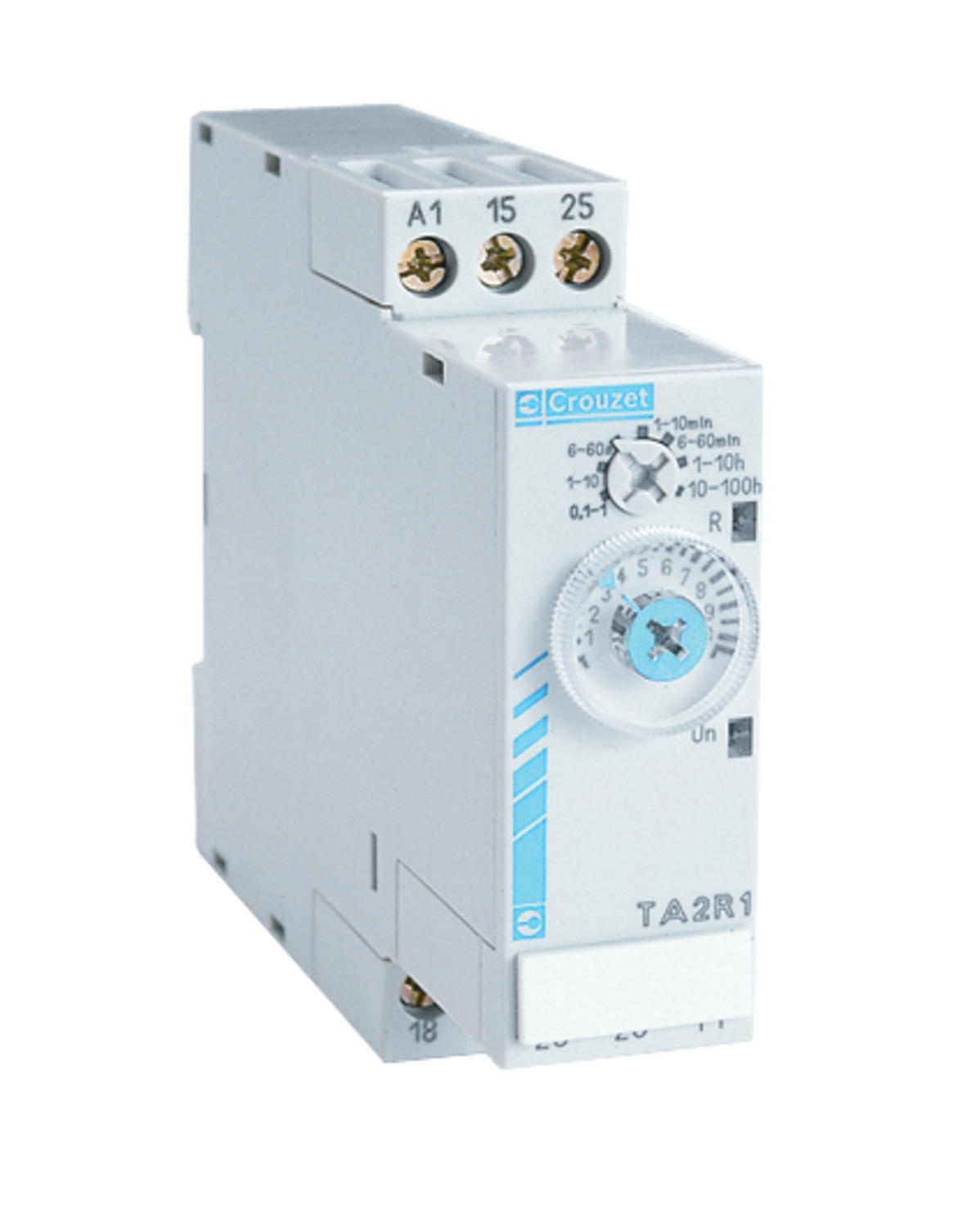 Timerelay for DIN rail, 2-pole