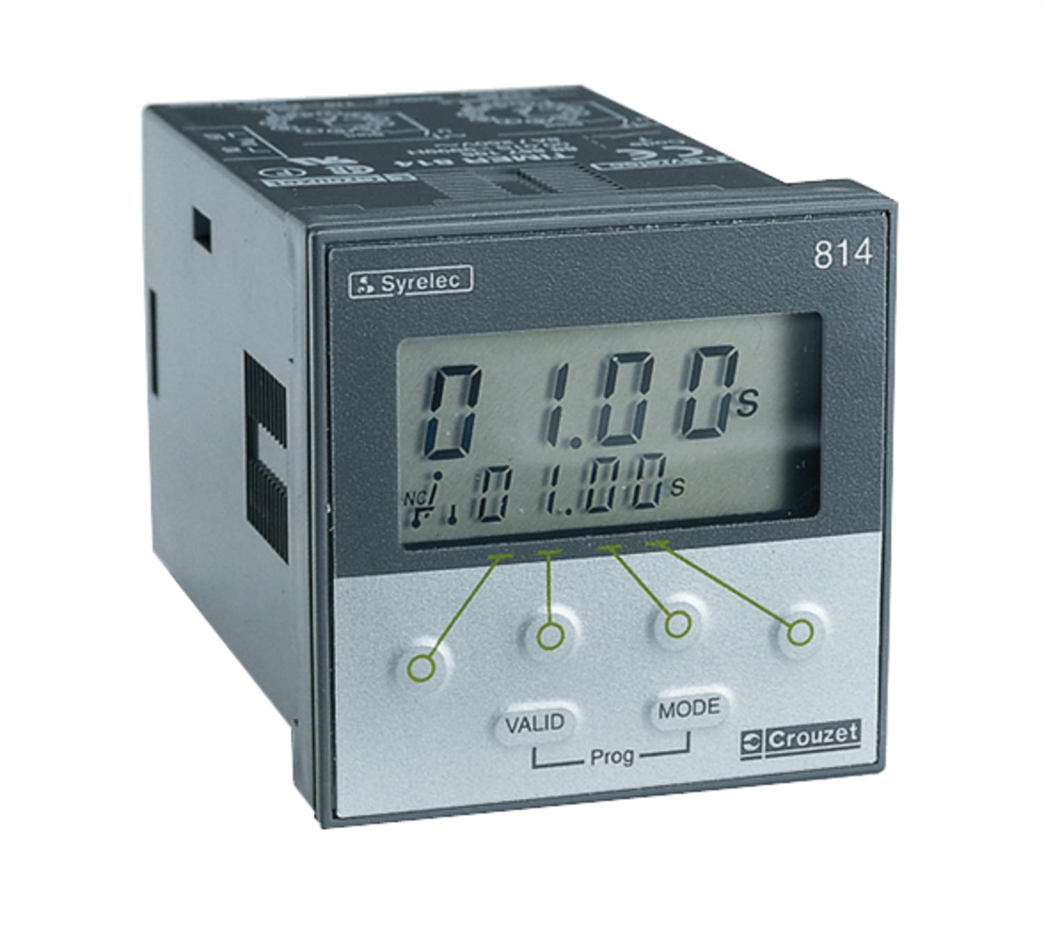 Timerelay for panelmontage, 48x48 mm